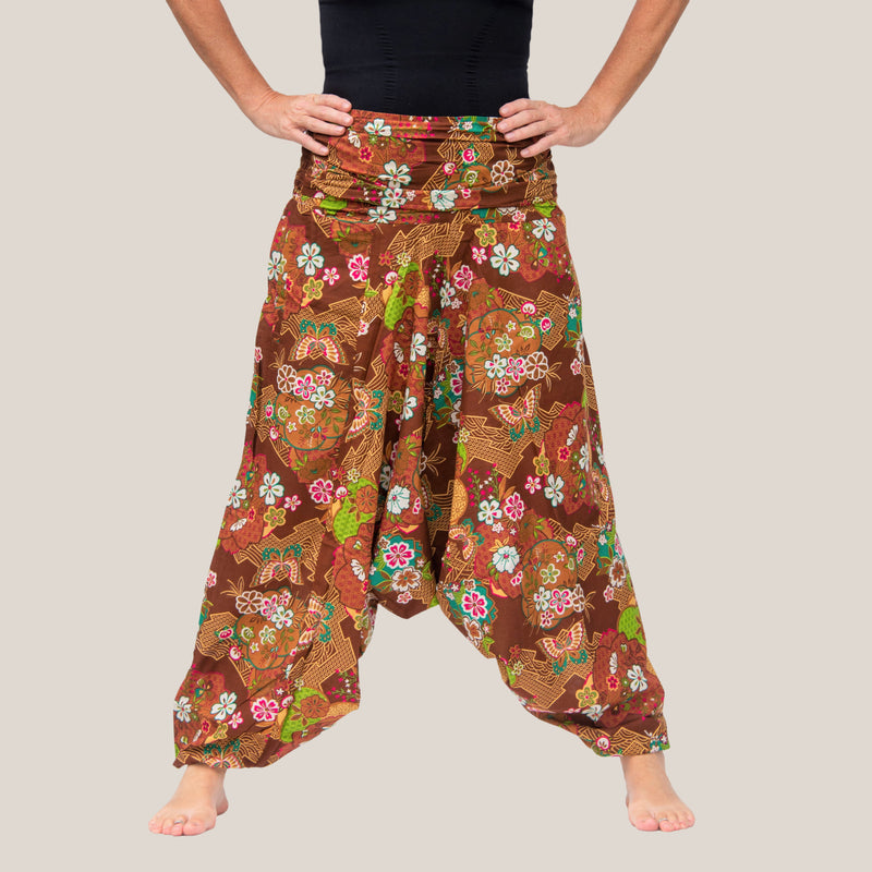Brown Butterfly - Yoga Pants, Harem Trousers & Jumpsuit