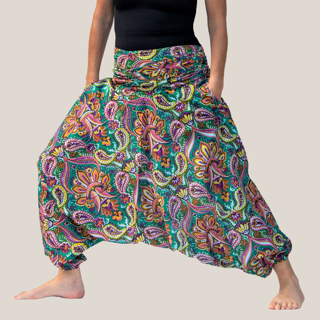 Green Mango Motif - Yoga Pants, Harem Trousers & Jumpsuit