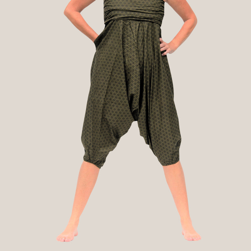Green Seed of Life - Yoga Pants, Harem Trousers & Jumpsuit