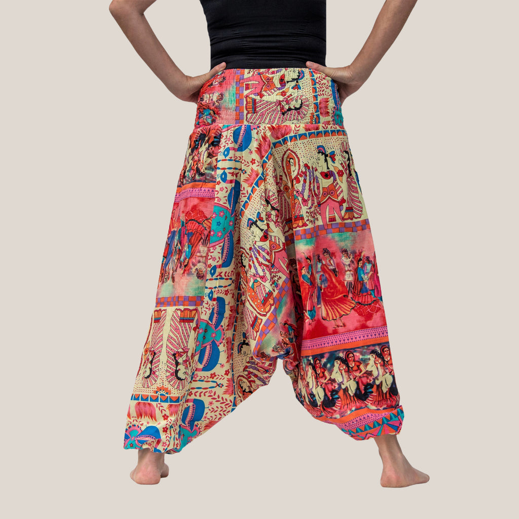 Pink Indian Dancer - Yoga Pants, Harem Trousers & Jumpsuit