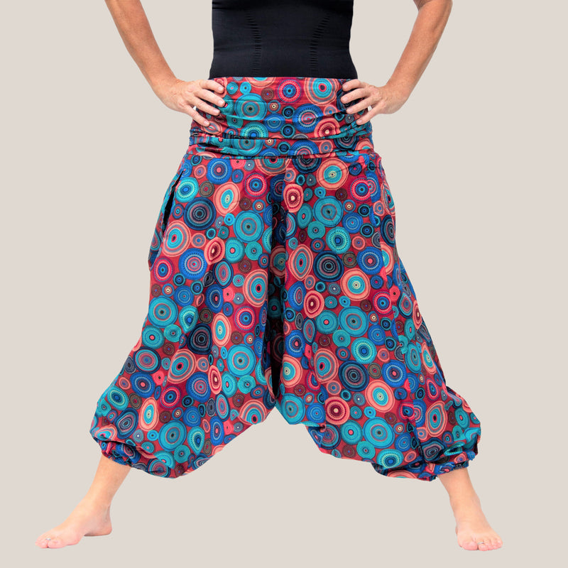 Pink Mandala - Yoga Pants, Harem Trousers & Jumpsuit