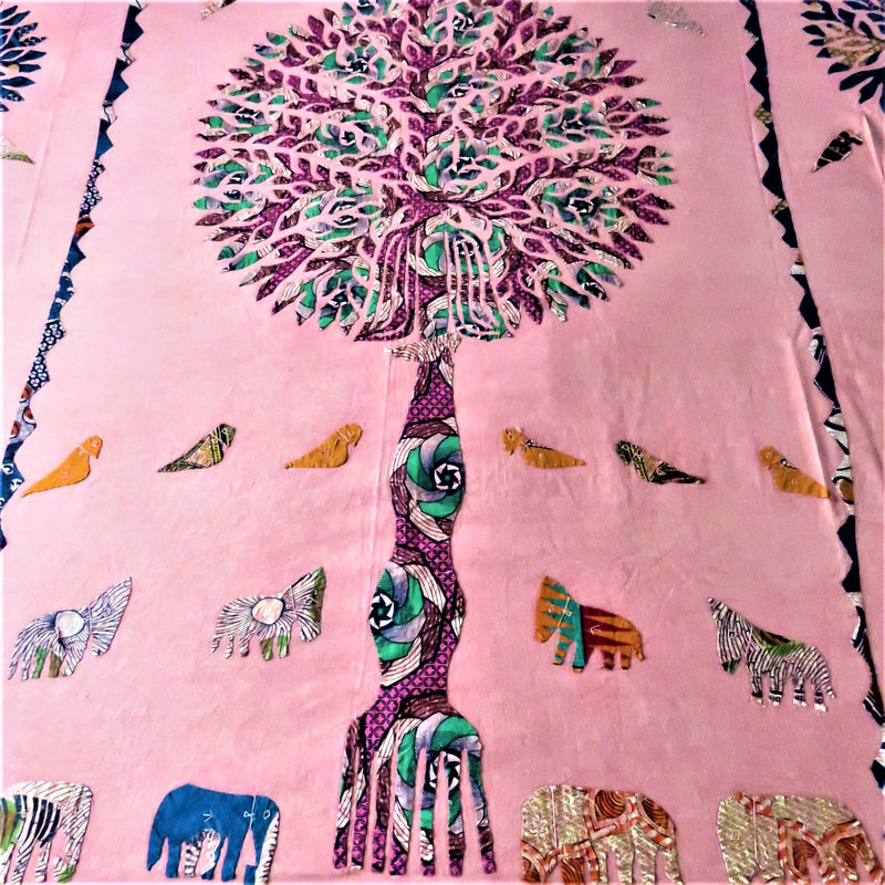 Colourful Patchwork Tree of Life Bed Cover & Throw - 05