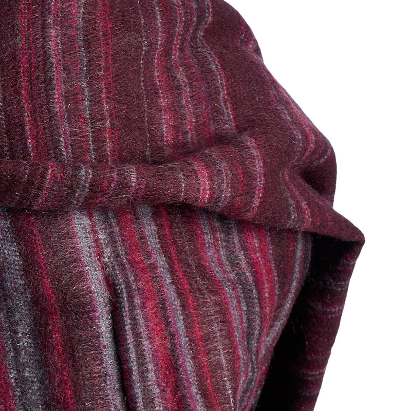 Soft Woven Recycled Acry-Yak Large Brown Shawl - 16