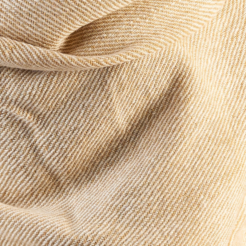 Tiny Striped Woven Bamboo Large Beige Shawl - 25