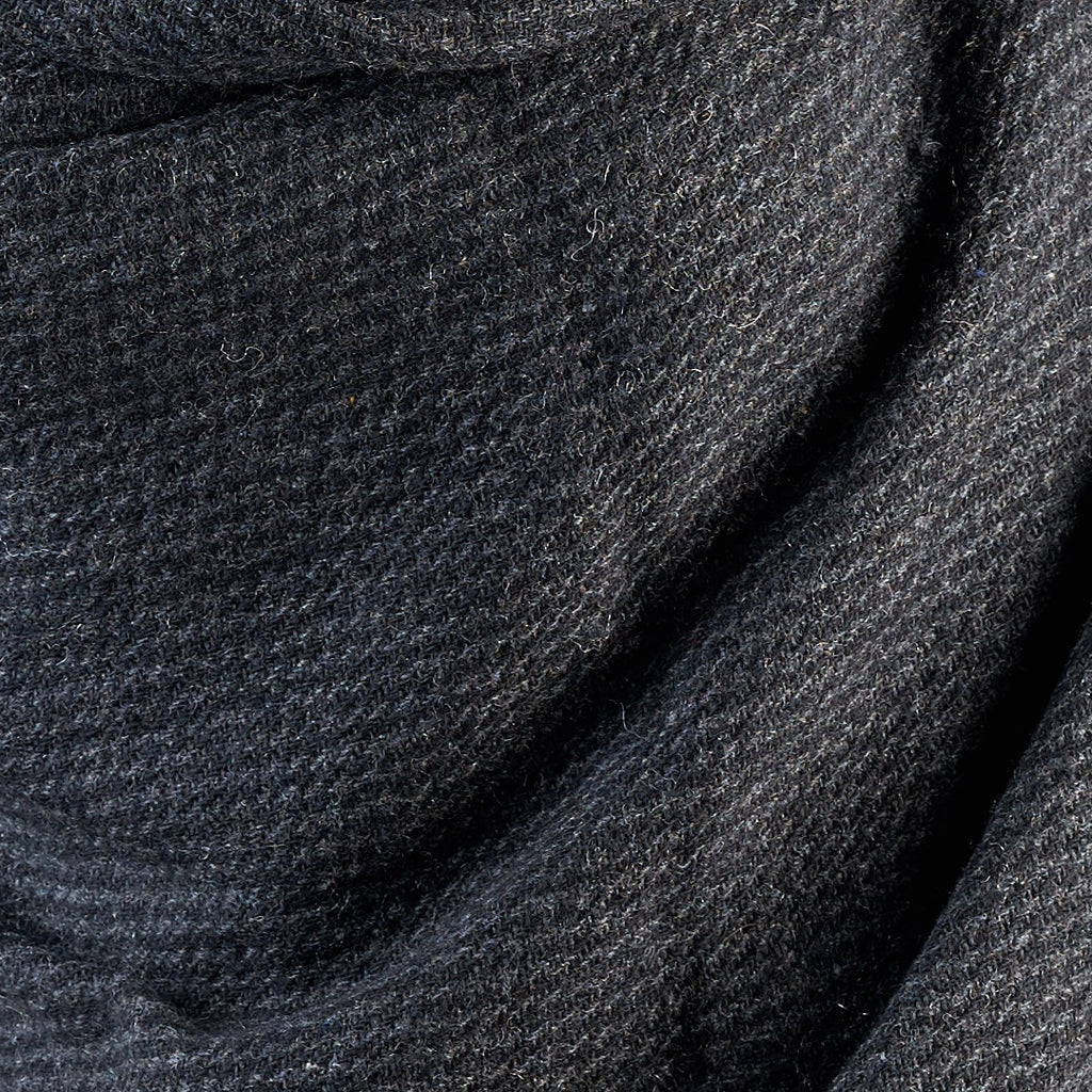 Cross Striped Woven Bamboo Large Grey Shawl