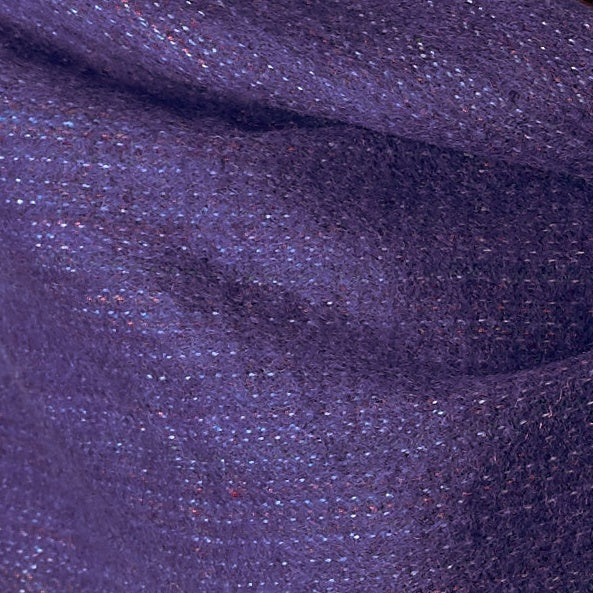 Soft Woven Bamboo Kantha Stitched Large Purple Shawl - 21