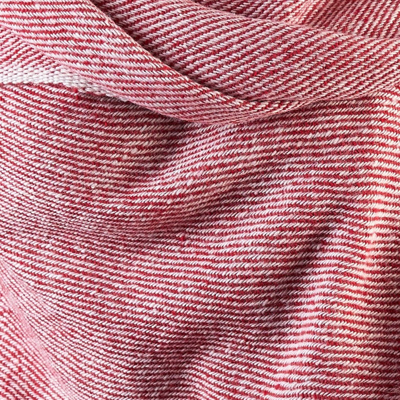 Tiny Striped Woven Bamboo Large Pink Shawl - 23