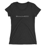 #Answer1onBB200 Women's Triblend Fitted T