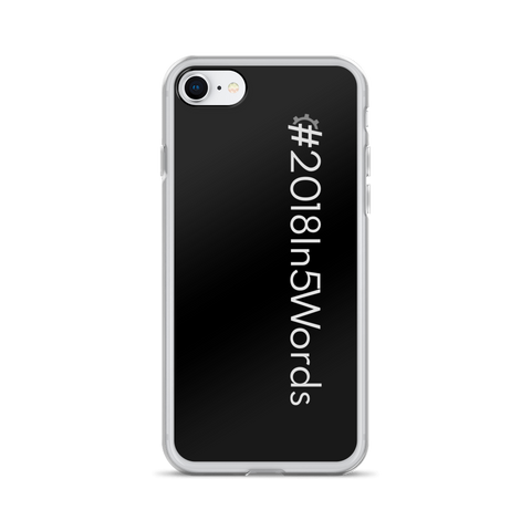 #2018In5Words iPhone Case