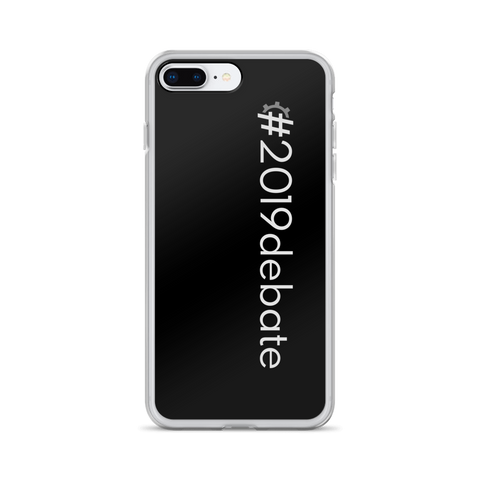 #2019debate iPhone Case