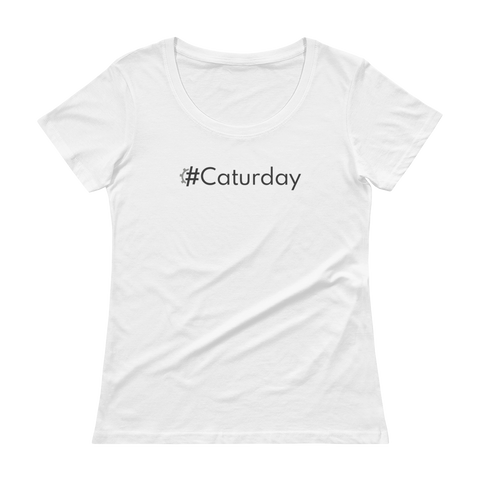 #Caturday Women's Scoopneck T