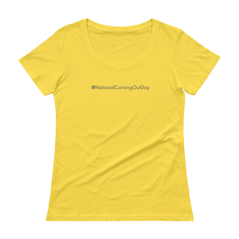 #NationalComingOutDay Women's Scoopneck T