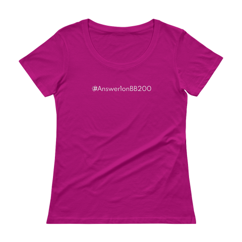 #Answer1onBB200 Women's Scoopneck T