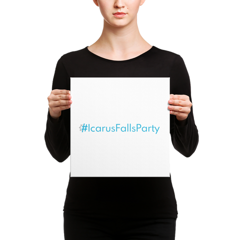 #IcarusFallsParty Word Art