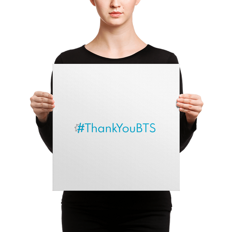 #ThankYouBTS Word Art