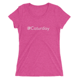 #Caturday Women's Triblend Fitted T