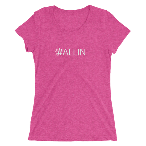 #ALLIN Women's Triblend Fitted T