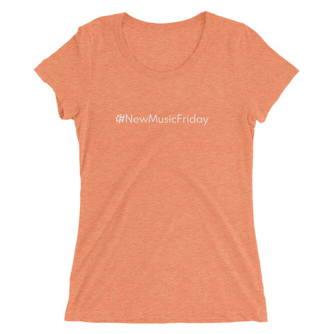 #NewMusicFriday Women's Triblend Fitted T