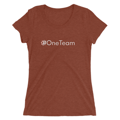 #OneTeam Women's Triblend Fitted T