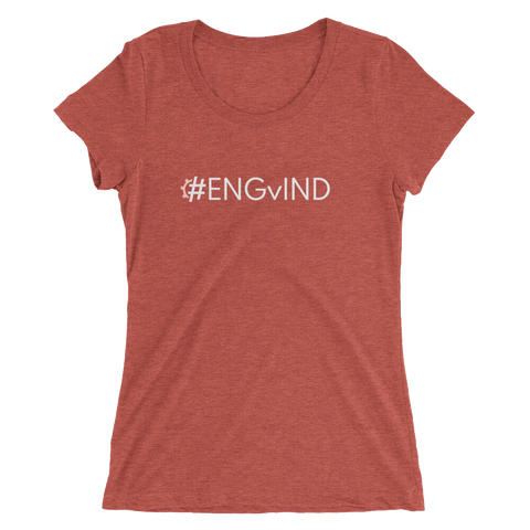 #ENGvIND Women's Triblend Fitted T