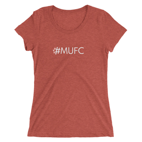 #MUFC Women's Triblend Fitted T