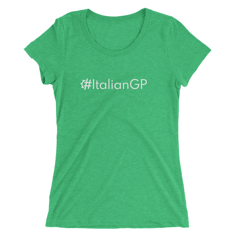 #ItalianGP Women's Triblend Fitted T
