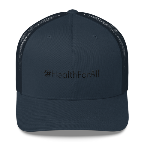 #HealthForAll Retro Trucker Hat