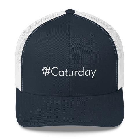 #Caturday Retro Trucker Hat