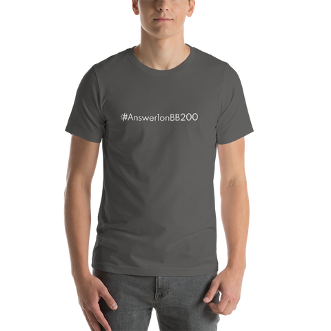 #Answer1onBB200 Men's T