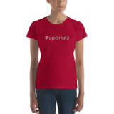 #aporla13 Women's Casual T
