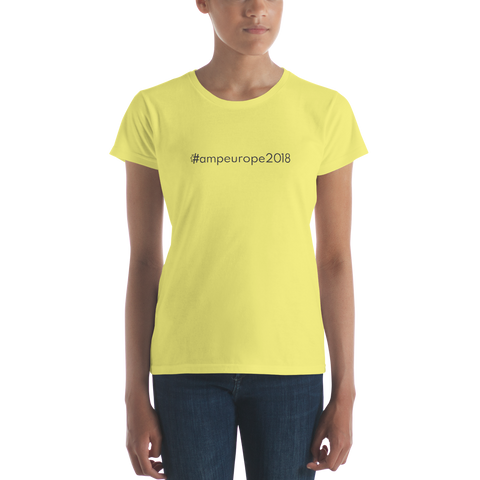 #ampeurope2018 Women's Casual T