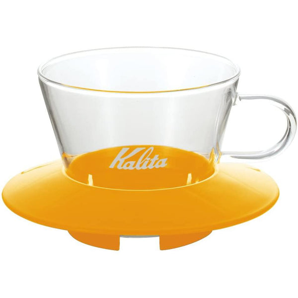 Kalita Wave Mango Yellow Glass Dripper - 155 (05061) | Hasbean.co.uk