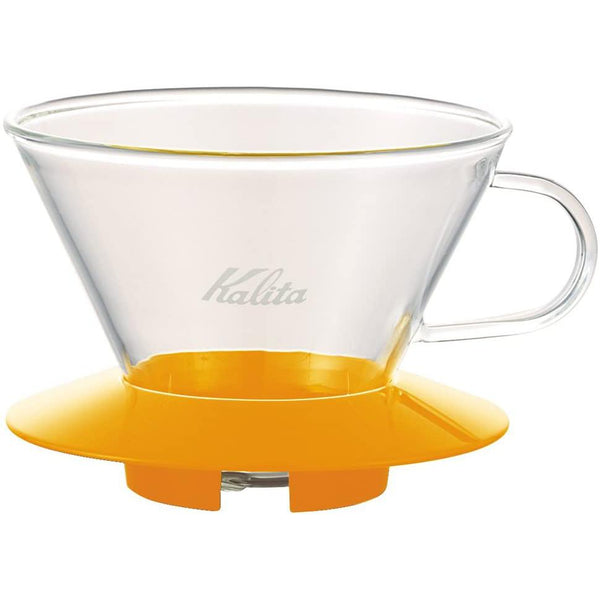 Kalita Wave Mango Yellow Glass Dripper - 185 (05067) | Hasbean.co.uk