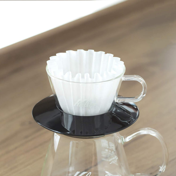Kalita Wave Glass Dripper - 155 Black | Hasbean.co.uk