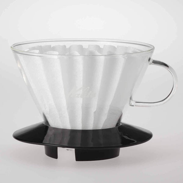 Kalita Wave Glass Dripper - 185 Black | Hasbean.co.uk
