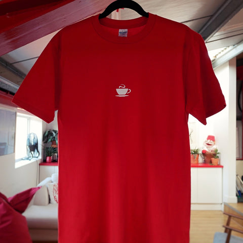 Hasbean Red T-Shirt. Hasbean.co.uk