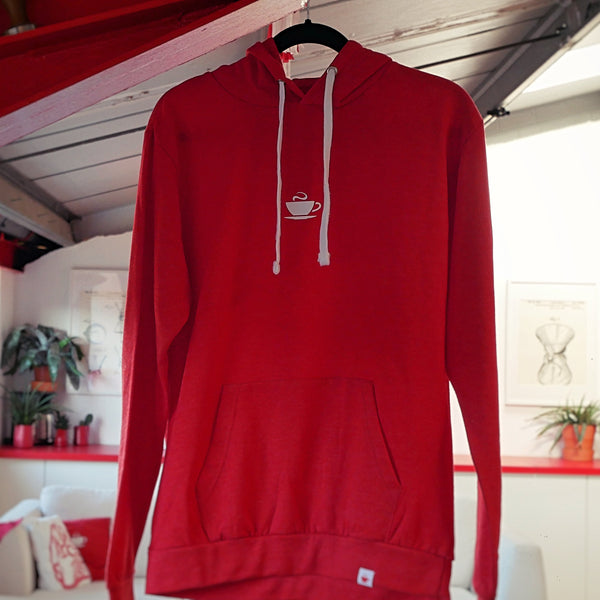 Hasbean Hoodie Red. Hasbean.co.uk