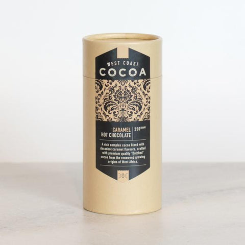 West Coast Cocoa Caramel Hot Chocolate 250g Tube. Hasbean.co.uk