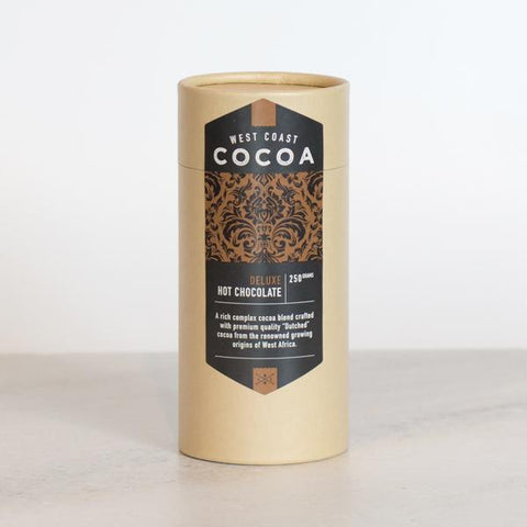 West Coast Cocoa Deluxe Hot Chocolate 250g Tube. Hasbean.co.uk