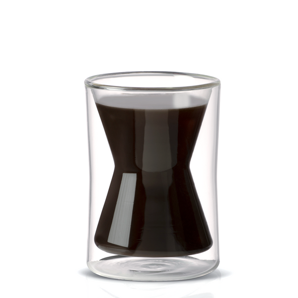 Chemex double walled borosilicate glass coffee mug filled with coffee | Hasbean.co.uk