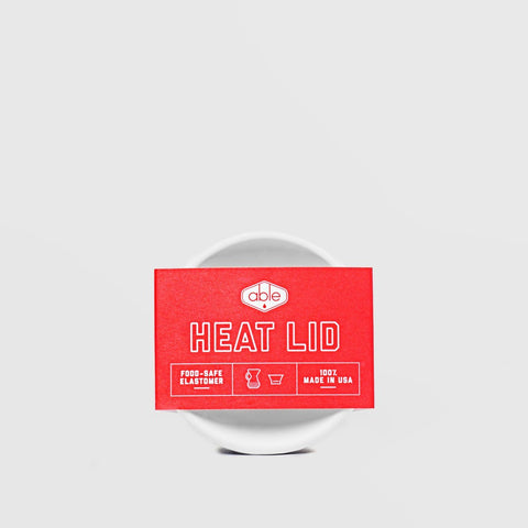 White Able Heat Lid for Chemex. Hasbean.co.uk