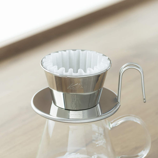 Kalita Wave Tsubame Stainless Steel Dripper - 155 (WDS-155) | Hasbean.co.uk