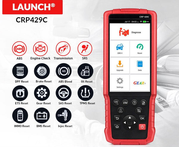 LAUNCH X431 CRP429C Auto Diagnostic tool for Engine/ABS/SRS