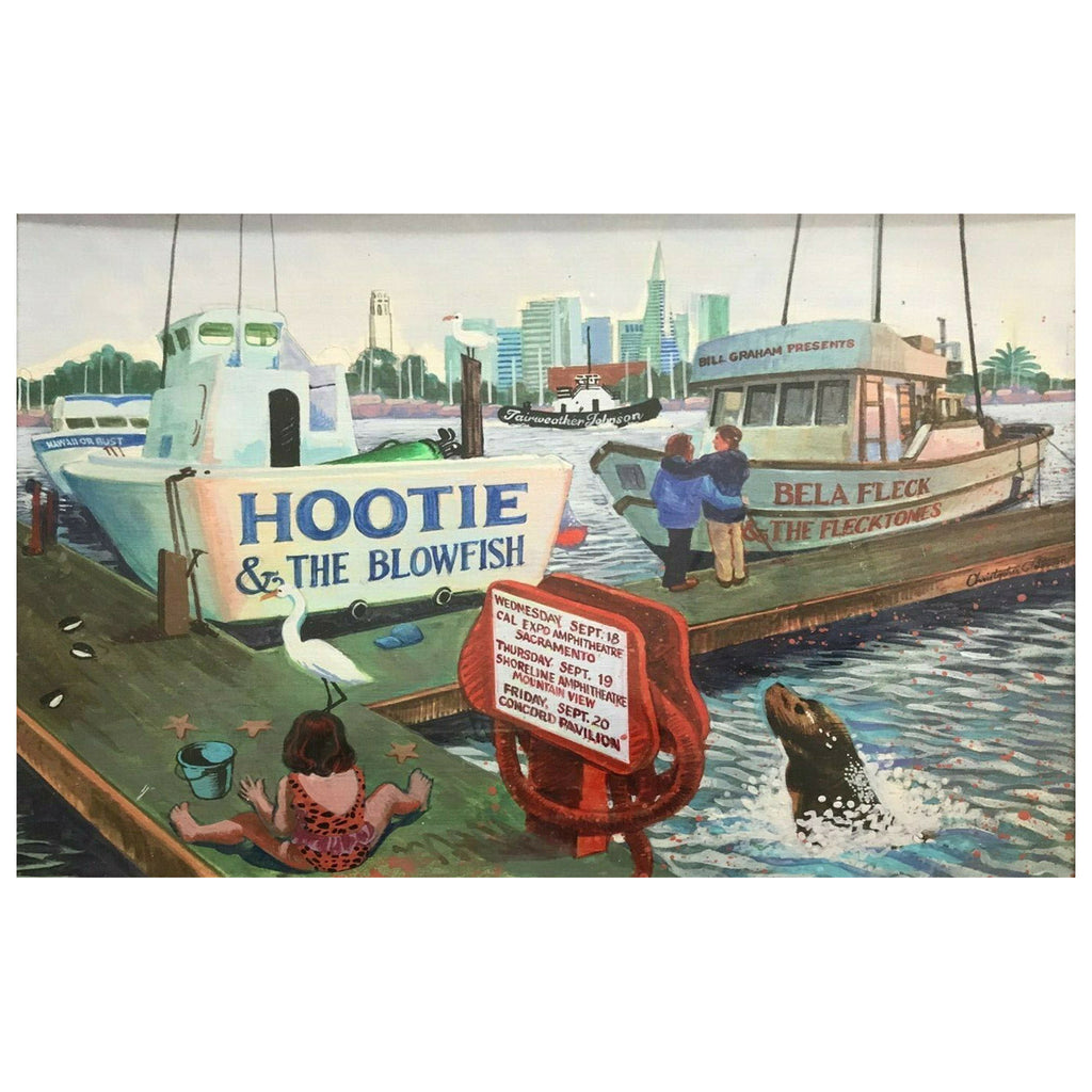 1996 Hootie & The Blowfish With Bela Fleck and Flecktones Concert Poster