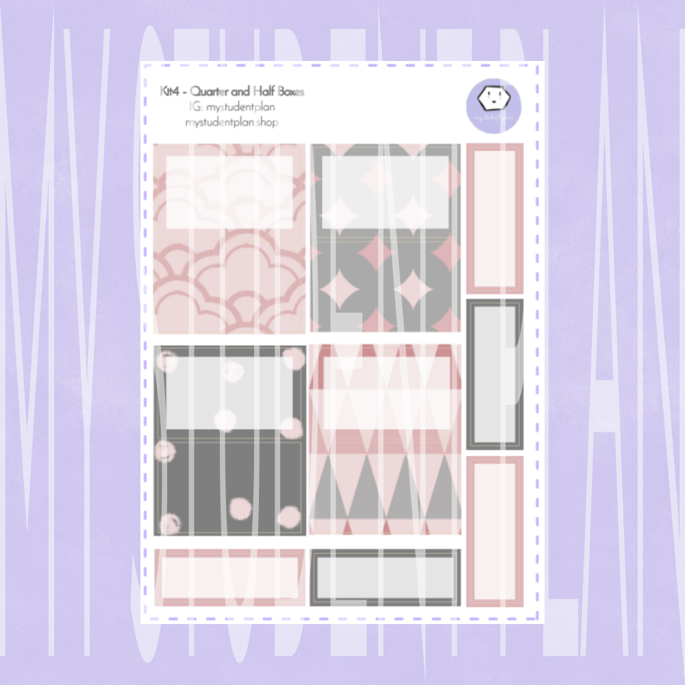 Half Boxes and Quarter Boxes Stickers | Kit#4