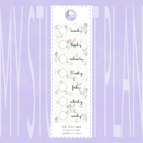 Date Cover Stickers | Kit#5