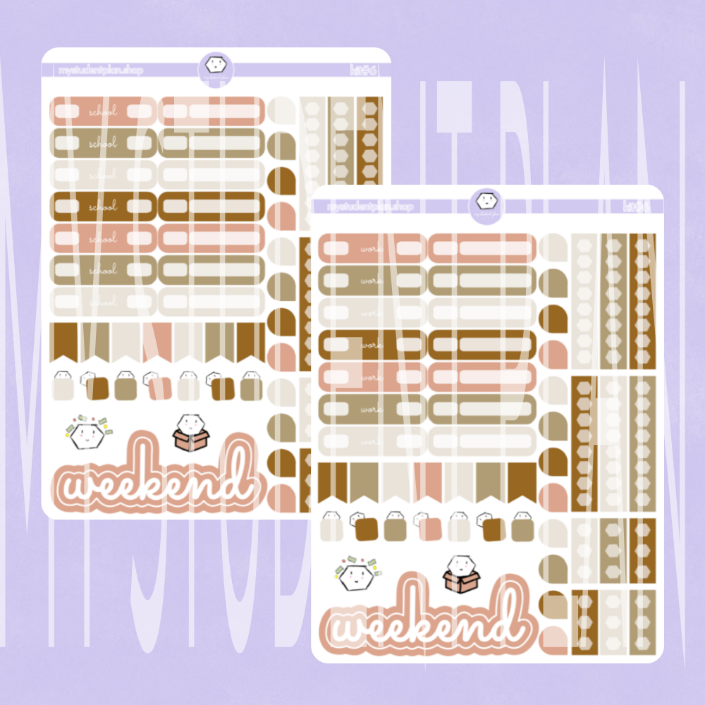 Functional Sticker Sheet | Kit#6