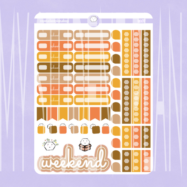 Functional Sticker Sheet [Work/School] | Kit#7