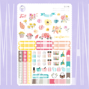 Fall Deco and Functional Sticker Sheet | D&F#5