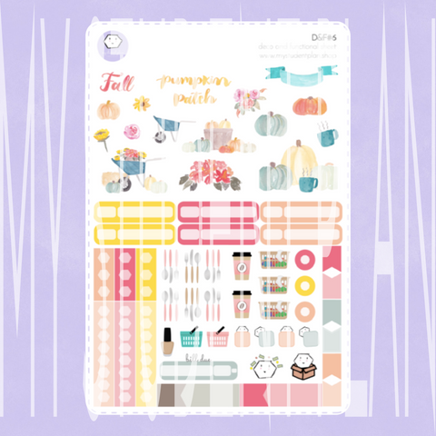 Fall Deco and Functional Sticker Sheet | D&F#6